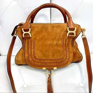 "CHLOE ""Marcie"" Medium suede bag"